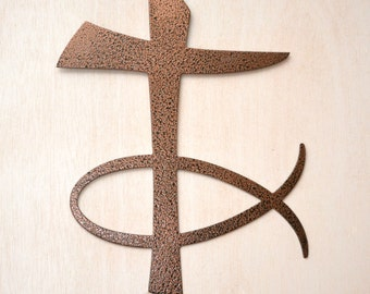 Cross with Christian Fish