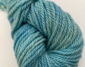 SKY BLUE LT.  Hand dyed yarn for rug punching and other fiber arts projects