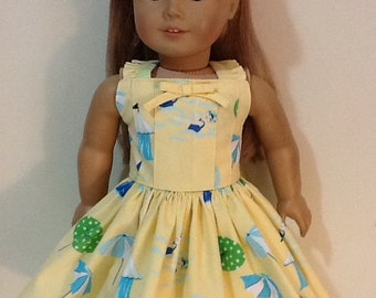 """Gymboree Pool Party Dress Reconstructed to fit 18"""" American Girl Doll"""