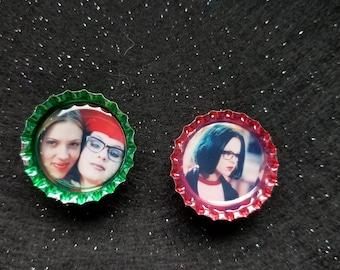 Ghost world bottlecap magnet 2 pk