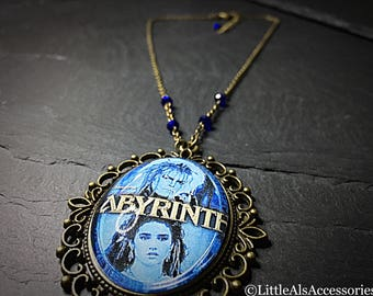 Labyrinth Necklace, Goblin King, David Bowie Jewelry, David Bowie, Fairytale Jewelry, Fantasy Necklace, Silver Necklace, Cameo Necklace