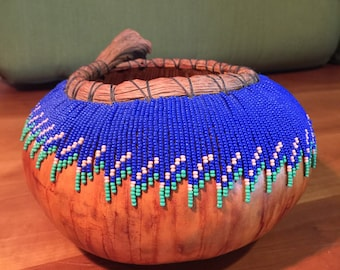 Fully Handcrafted Decorative Gourd