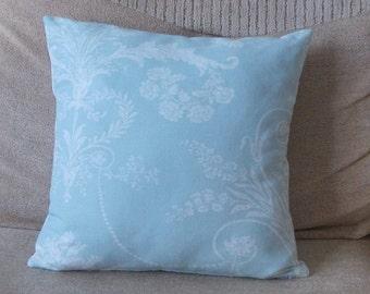 "Handmade Laura Ashley duck-egg blue  ""Josette"" cushion pillow covers. 14"" 16"" 18"" 20"" 22"" 24"""