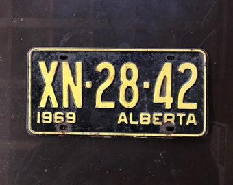 Single 1969 Alberta license plate-vintage license plates-antique license plates-Old license plates & Old license plates | Etsy