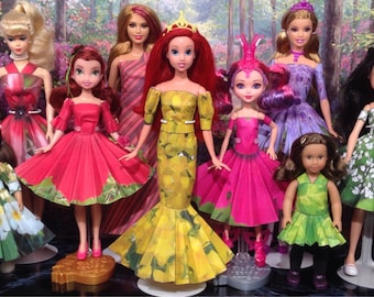 Flora Printable Doll Clothes - Fits Barbie, Disney Fairies, American Girl Mini Dolls and more!