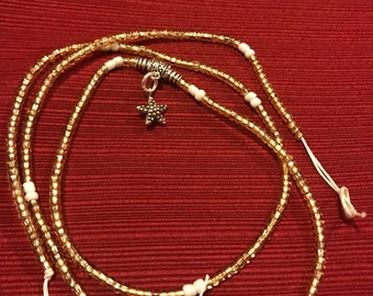 Golden star waist beads