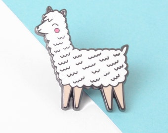 Cute Llama Enamel Pin -  Llama Gifts - Hard Enamel Pin - Lapel Pin Badge - Alpaca Pin - Stocking Fillers