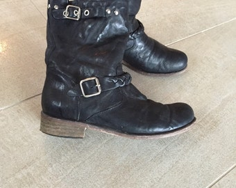 Vintage Biker boots size 38, made in italy