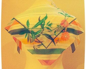Pastel stripe/floral scarf
