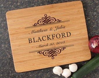 Personalized Cutting Board, Engraved Cutting Board, Bamboo Cutting Boards, Personalized Wedding Gift, Housewarming Gift-15 x 12 D14