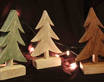 Standing Wooden Christmas Tree