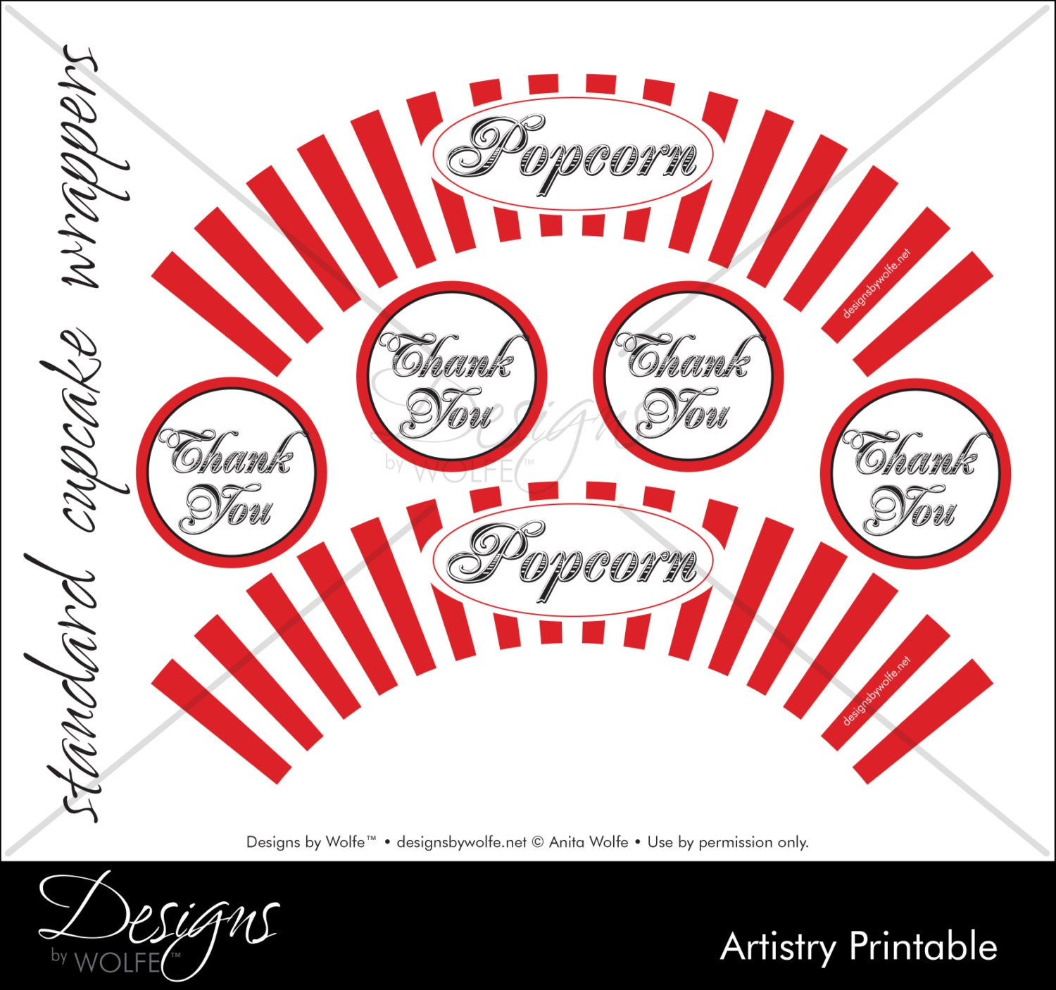 Printable popcorn designer cupcake wrappers zoom pronofoot35fo Choice Image