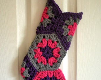 PATTERN: Christmas Stocking, modern holiday decor, baby girl teen, Sugarplum, InStAnT DoWnLoAd Permission to Sell