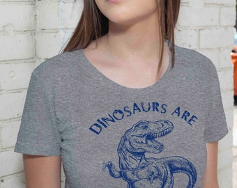 Dinosaurs Are Dinomite Funny Geek T Shirt - American Apparel Tshirt - S M L Xl