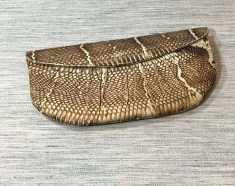 Vintage Snakeskin Clutch by Dodge Famous Shoe