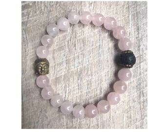 Buddha Love Rose Quartz Bracelet