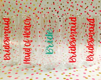 Plastic stemless champagne flutes