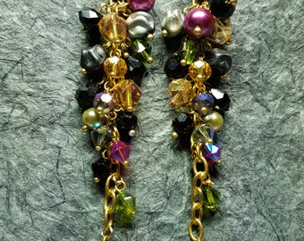 Artistic Earrings made from Czech Glass