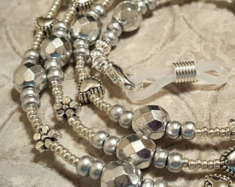 Simply Silver eyeglass sunglass handcrafted beaded chain never lose your glasses again!