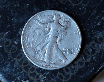 1941 Walking Liberty Silver Half Dollar, Denver Mint