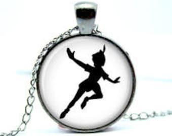 Peter Pan Silhouette Pendant Necklace