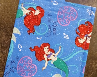 Ariel Reusable Snack Bag Eco Friendly / Little Mermaid / 2 sizes / Choice of Lining