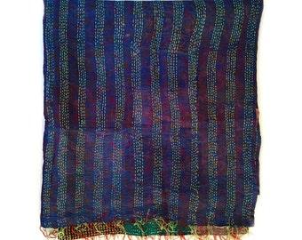 "Kantha Silk Fabric / XL - Scarf ""KUSHER"""