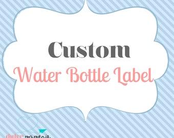 Water Bottle Labels INSTANT DOWNLOAD