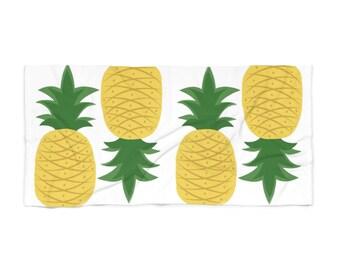 Plenty Of Pineapples Beach Towel