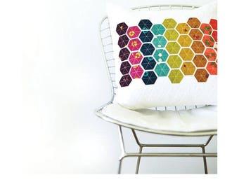 Hexie Pillow Pattern - Modern Handcraft - Nicole Daksiewicz