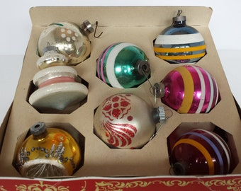Mixed Box of Vintage Christmas Ornamants - A