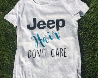 Jeep Hair Don't Care Fitted T-Shirt
