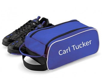 Blue Personalised Shoe / Boot Bag