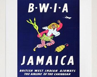 Jamaica Art Print Jamaican Travel Poster (TR101)