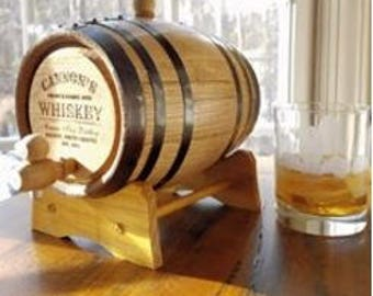 2 Liter Whiskey Making Kit with Personalized Barrel
