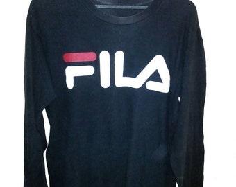 FREE SHIPPING Vintage 90's Fila tees long sleeve big logo