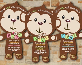Safari Baby Shower Invitations Jungle Baby Shower Invitations