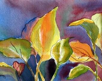 Hosta Watercolor Print