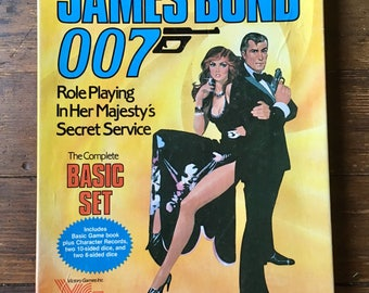 1983 James Bond 007 Role Playing Game, Basic Set with box. Victory Games Inc. (Avalon Hill)