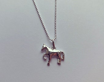 Sterling Silver Horse Charm Necklace