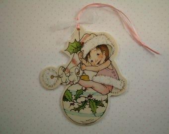 Pink Elf Ornament