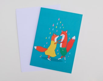 Dancing Foxes Card