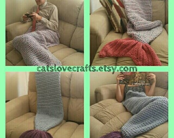 Crocheted mermaid blanket, Custom made, Handcrafted - unique gift for all ages
