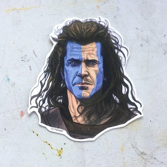 Braveheart waterproof sticker from castlemcquade on etsy studio