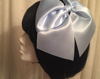 Huge Sissy Hair Bow Large Cosplay Bow SatinBaby Blue Other Colours AVailable and Custom Bows AVailable by Seriously Sassyx