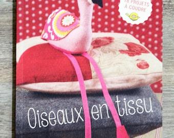 NEW - book bird fabric (sewing)