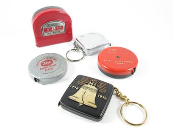 Tape Measures Vintage Pocket Size Key Chain- Buy 1 or All! Made in USA!