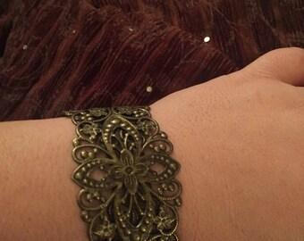Copper metal bracelet cuff