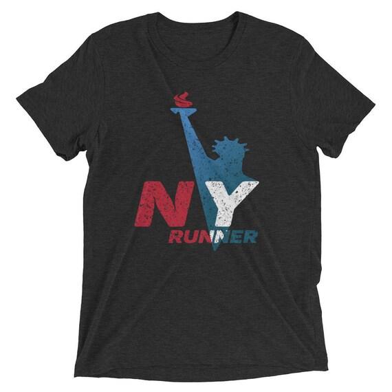 Men's New York Runner Tri-Blend T-Shirt - Run New York - Men's Short Sleeve Running Shirt