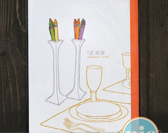 New Dinner Out - Baby/Children/Pregnancy Card